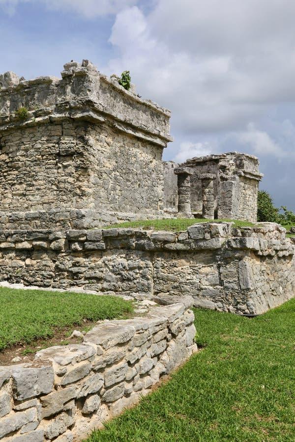 Mayan ruïnes in Tulum, Mexico royalty-vrije stock fotografie