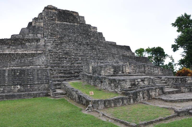 Mayan Ruïnes van Chacchoben royalty-vrije stock foto's