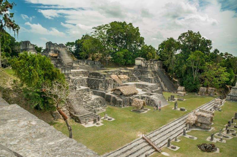 Mayan ruïnes van Tikal in Guatemala royalty-vrije stock foto's