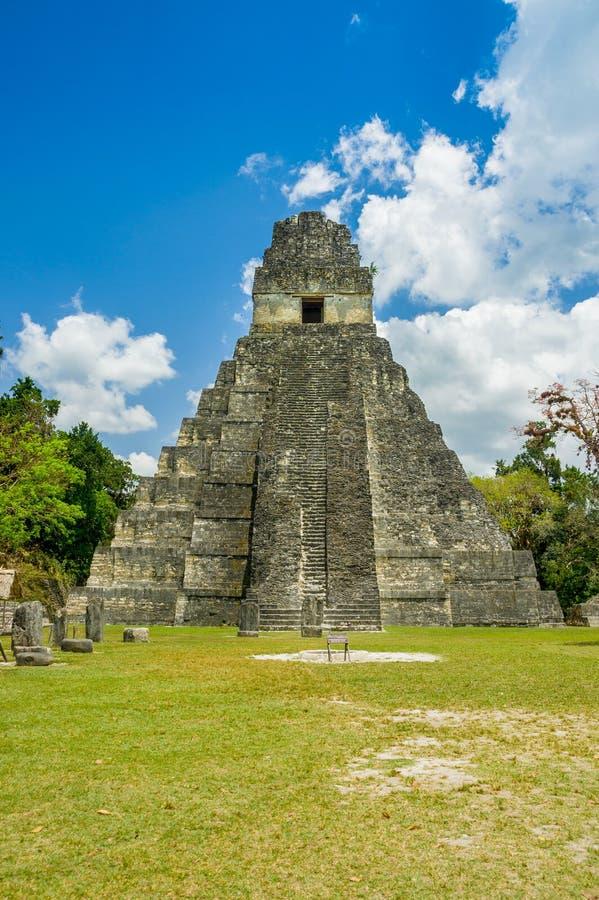 Mayan ruïnes van Tikal in Guatemala royalty-vrije stock afbeelding