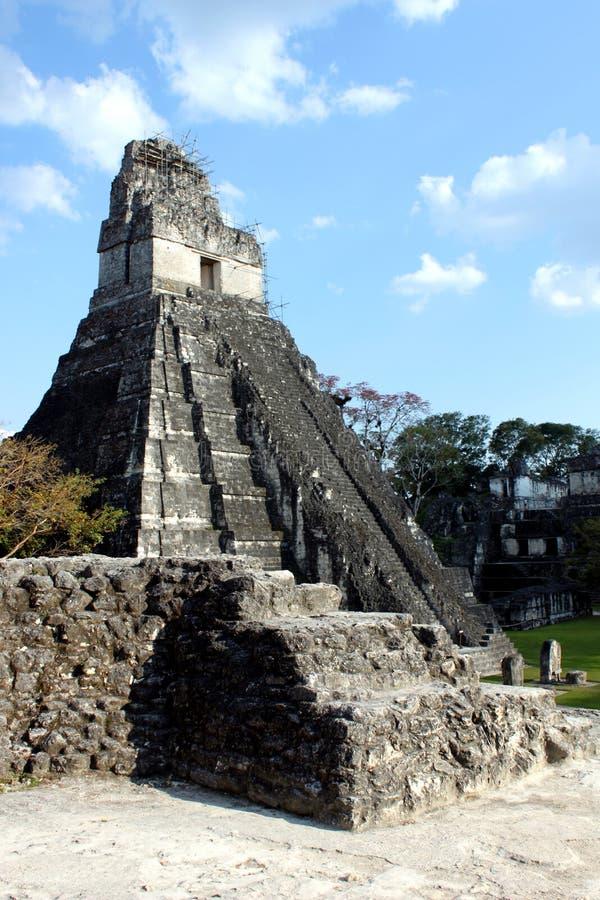 Mayan ruins. Mayan temple ruins, Tikal National Park, Guatemala stock image