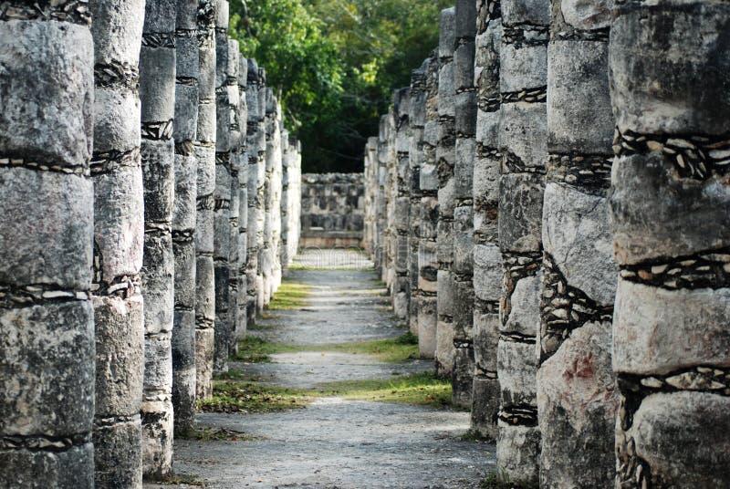 Mayan ruins. At equinox day Mexico stock images