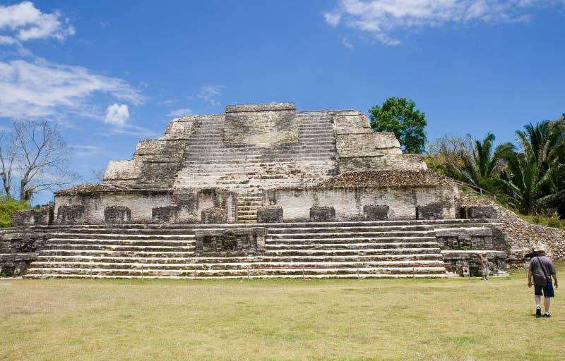 Mayan Ruins. At Altun Ha, Belize stock photo