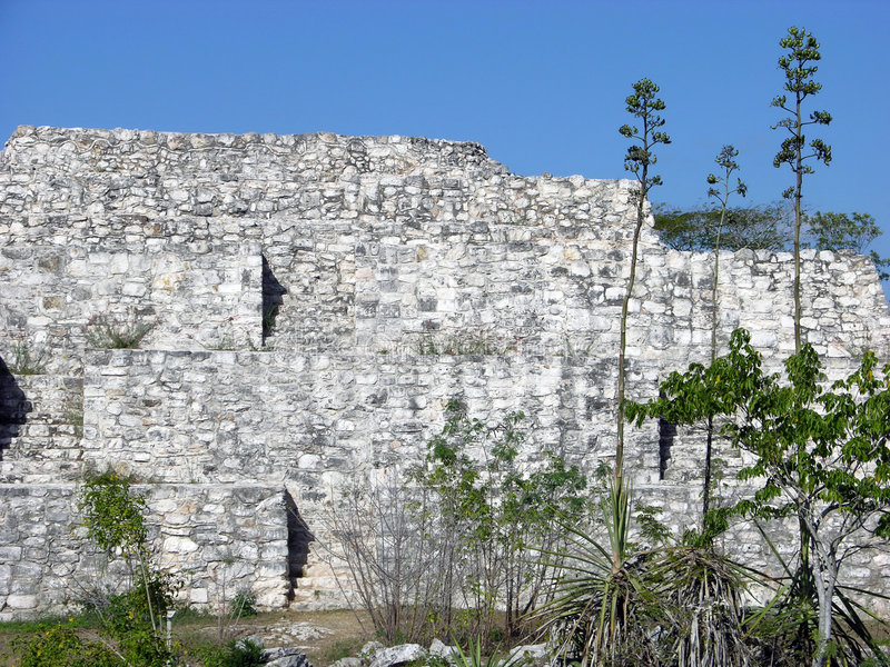 Mayan Ruins In Mexico stock images