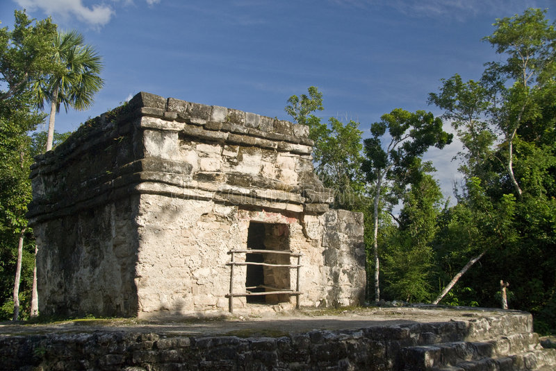 Mayan Ruins At San Gervasio Stock Images