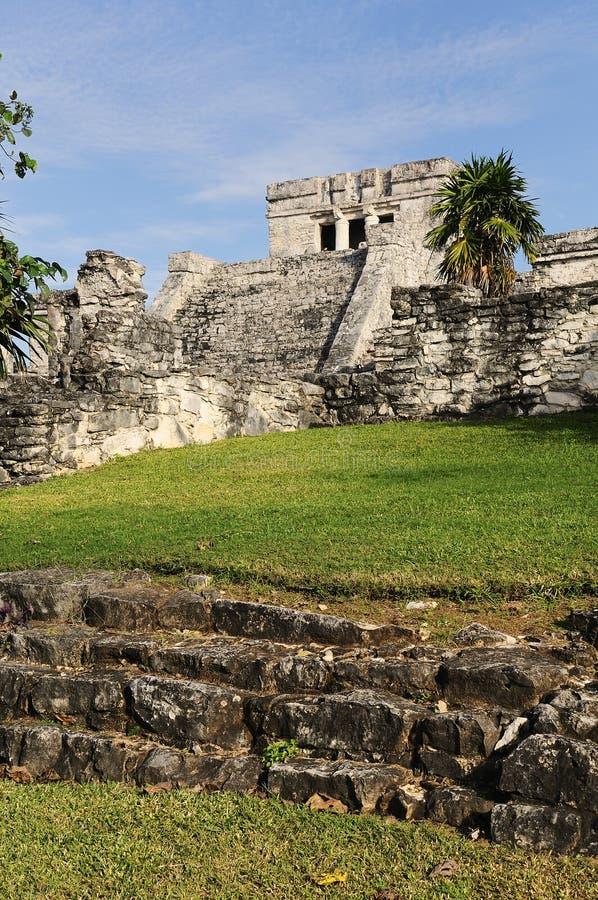 Mayan ruins of Tulum Mexico royalty free stock photos