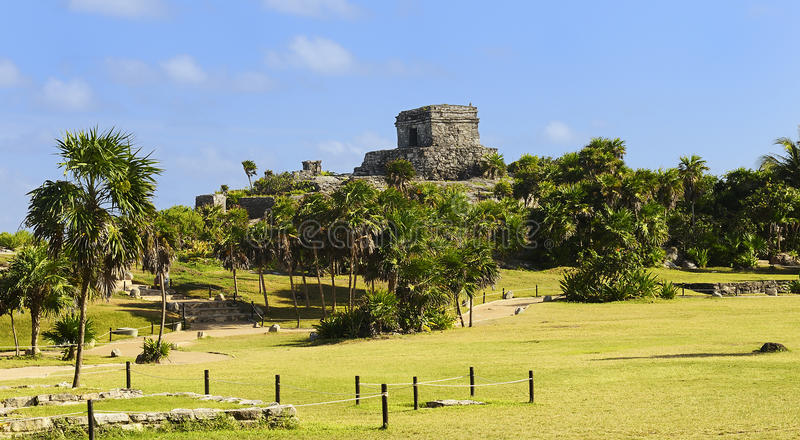Mayan ruins of Tulum Mexico royalty free stock image