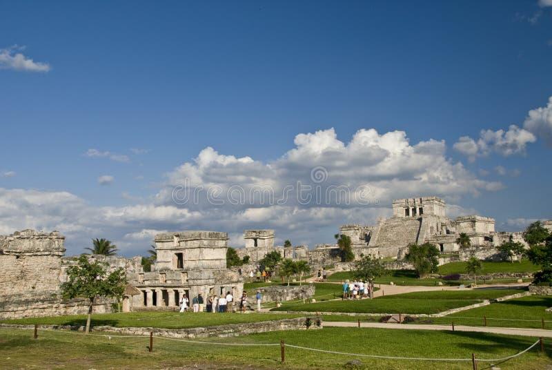 Mayan Ruins at Tulum Mexico royalty free stock image