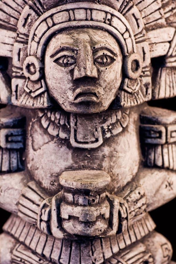 Mayan sculpture. Little detail of a mayan sculpture stock photo