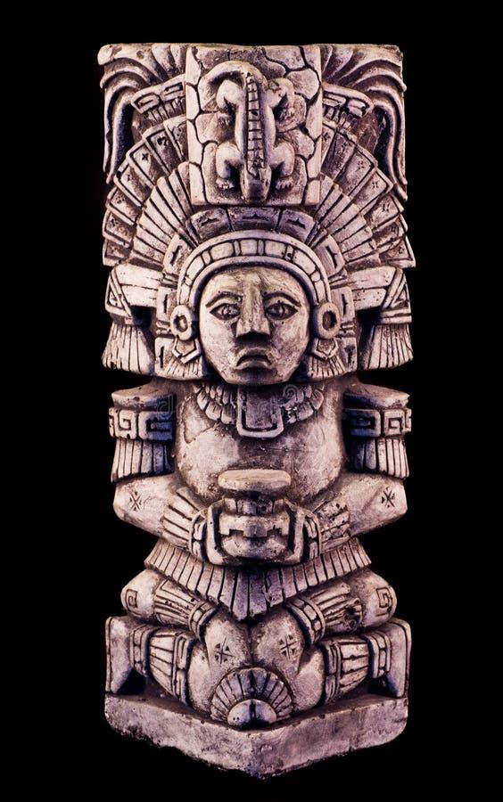 Mayan sculpture. Portrait of a mayan sculpture royalty free stock photo