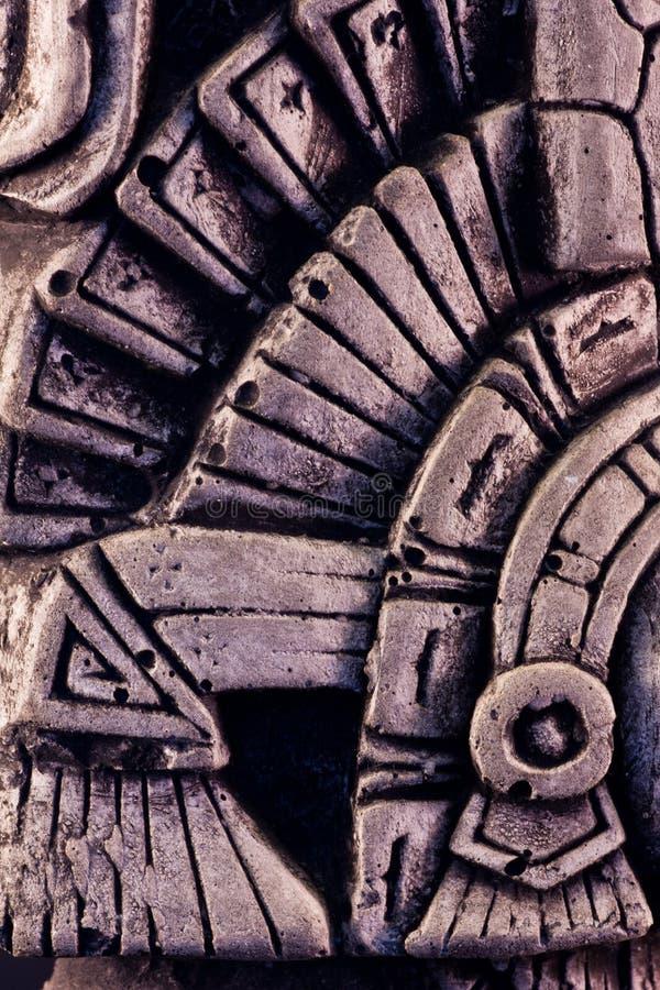 Mayan sculpture. Little detail of a mayan sculpture stock image