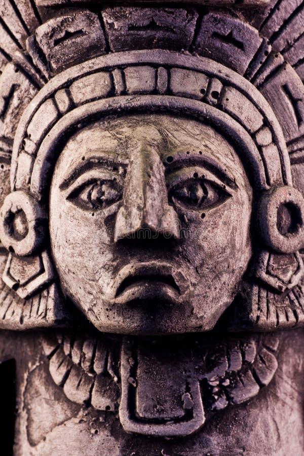 Mayan sculpture. Little detail of a mayan sculpture royalty free stock images