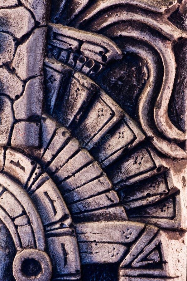 Mayan sculpture. Little detail of a mayan sculpture royalty free stock photo