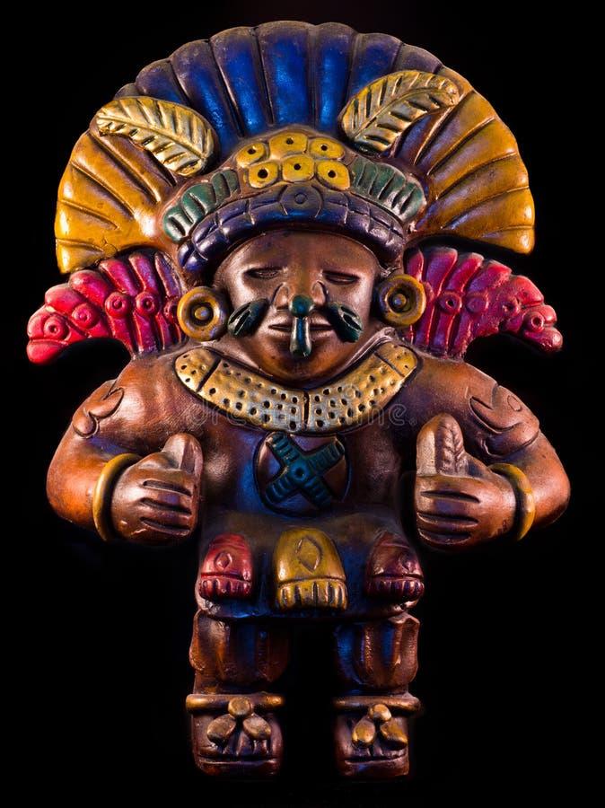 Mayan sculpture. Portrait of a mayan sculpture stock photos