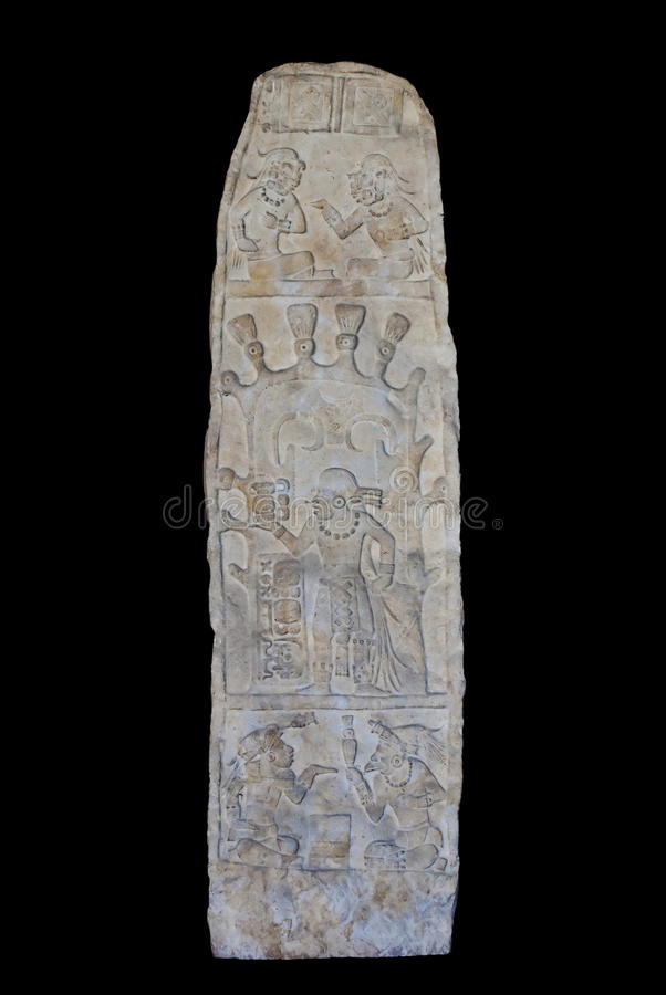 Mayan sculpture in Guatemala royalty free stock images