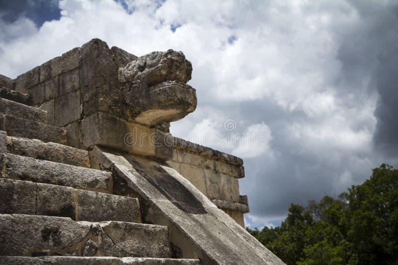 Mayan skulptur royaltyfria foton