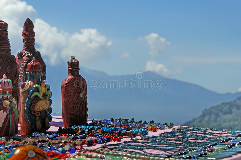 Mayan Souvenirs On Sale Stock Photography