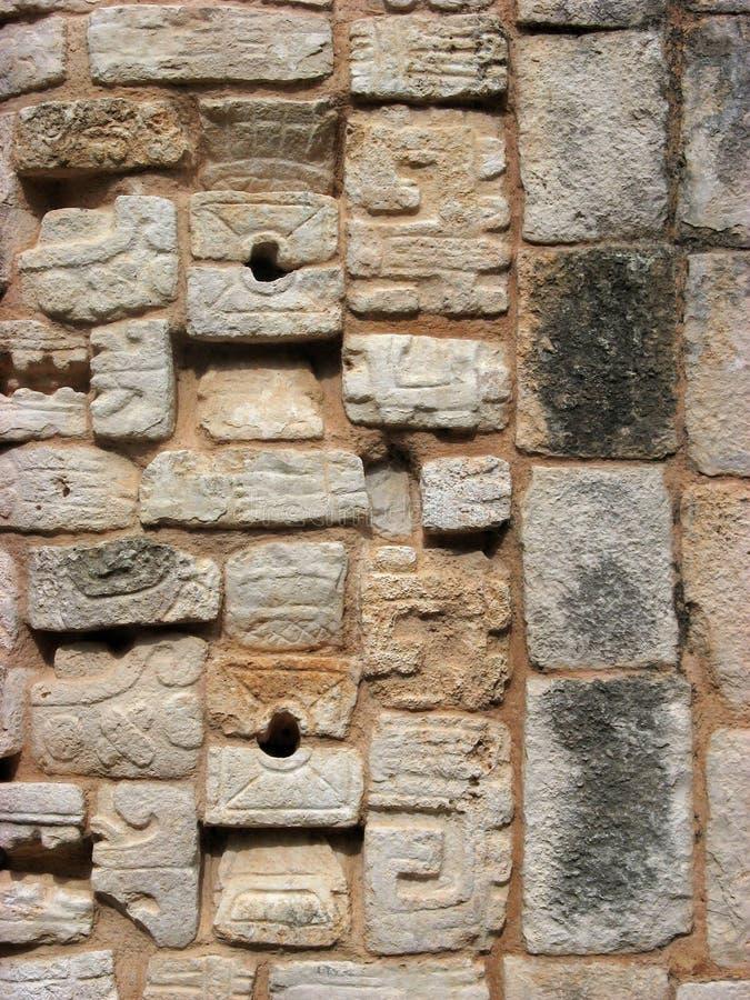 Mayan square stone texure stock photos