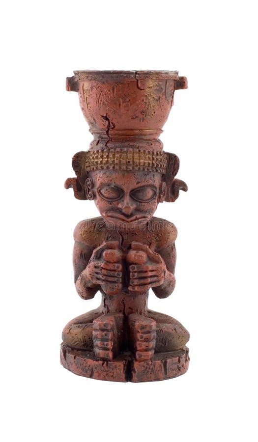 Mayan staty royaltyfria foton