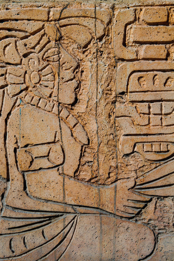 mayan statykrigare arkivfoto