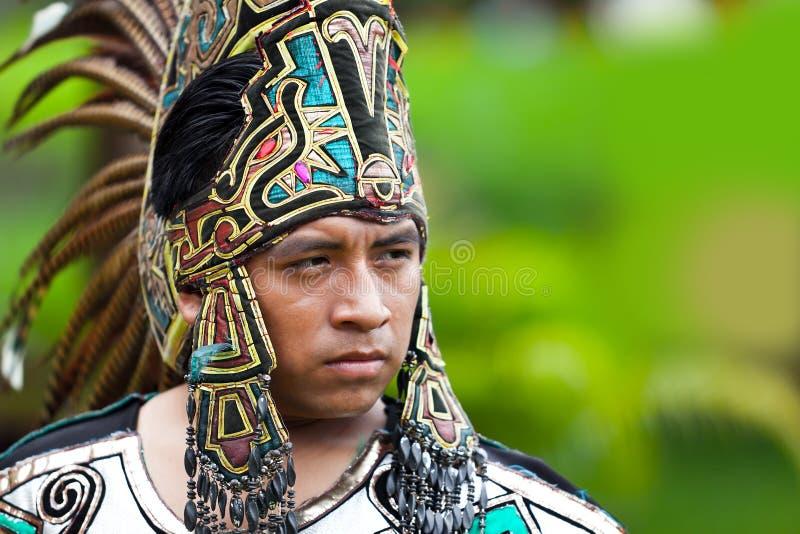 Mayan Strijder stock foto