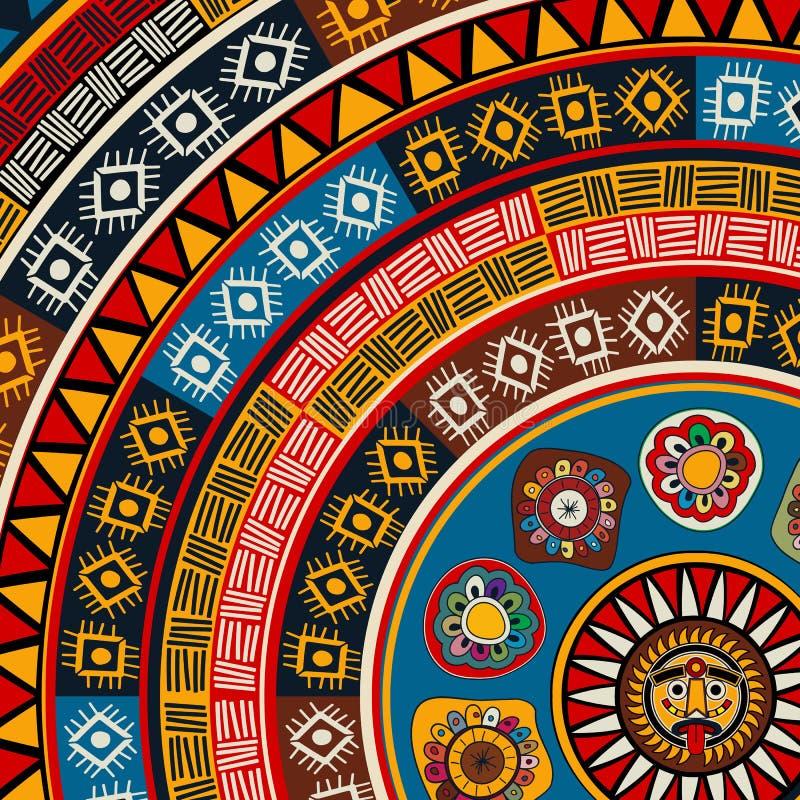 Mayan Sun Background Stock Vector Illustration Of Greeting 55007801