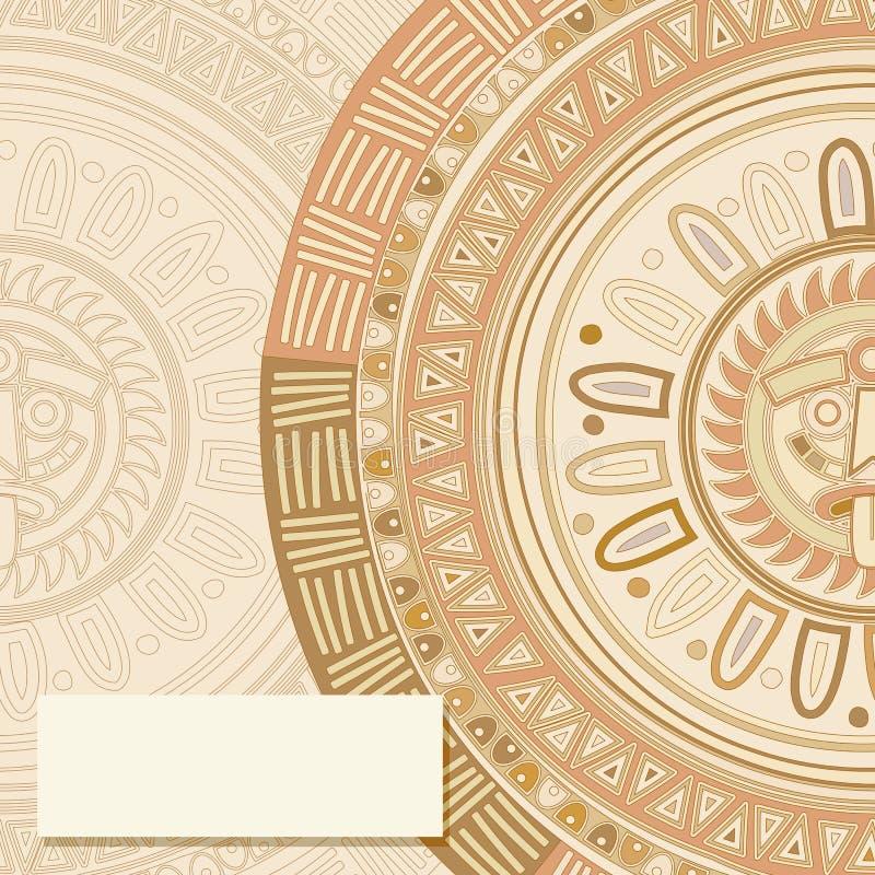 Mayan Sun Symbol Card Stock Illustration Illustration Of