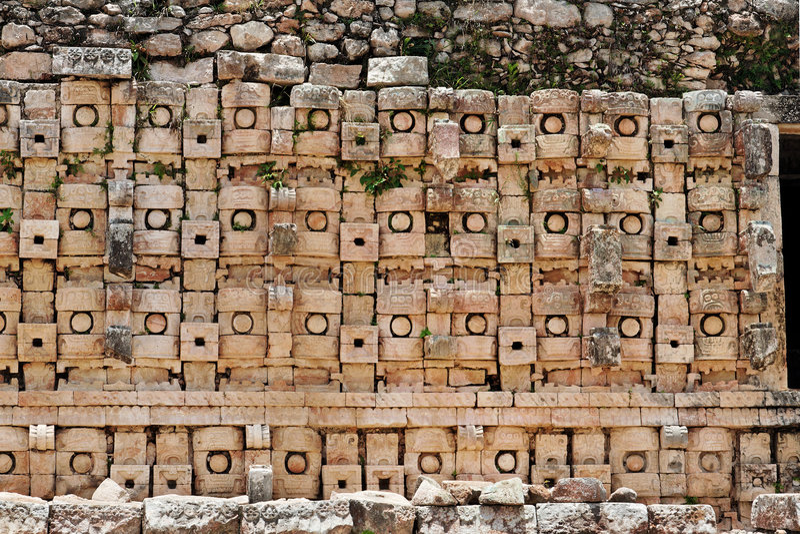 Mayan Tempel in Kabah stock afbeelding
