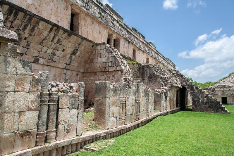 Mayan Tempel in Kabah Yucatan Mexico royalty-vrije stock afbeeldingen