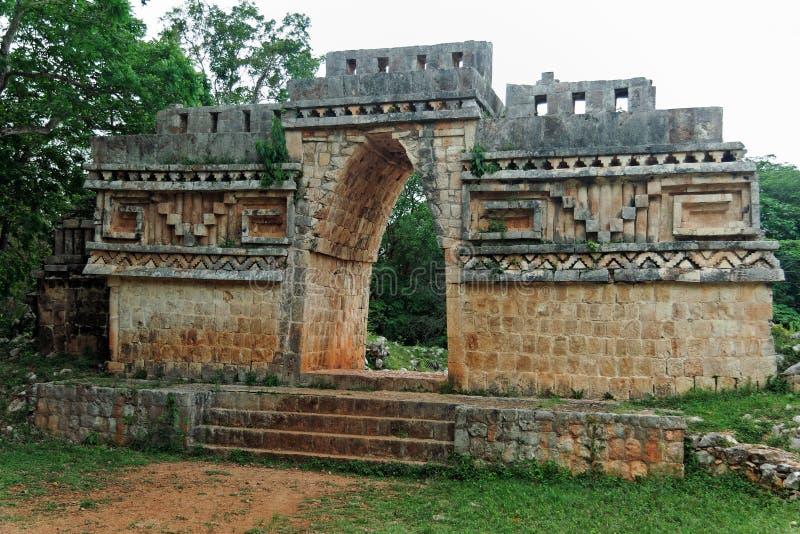 Mayan Tempel in Labna royalty-vrije stock afbeeldingen