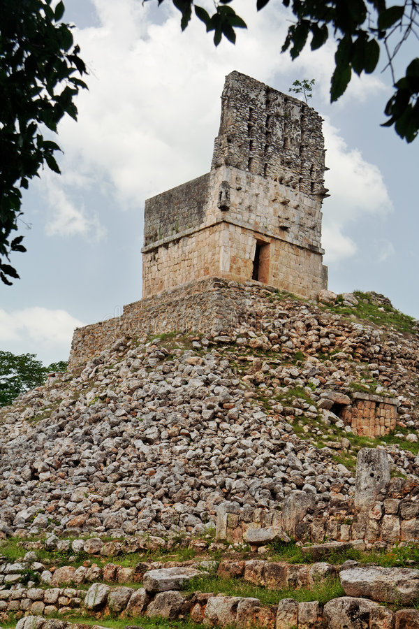 Mayan Tempel in Labna royalty-vrije stock afbeelding