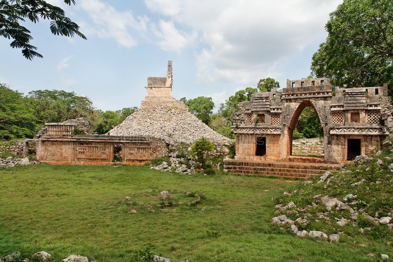 Mayan Tempel in Labna royalty-vrije stock foto's