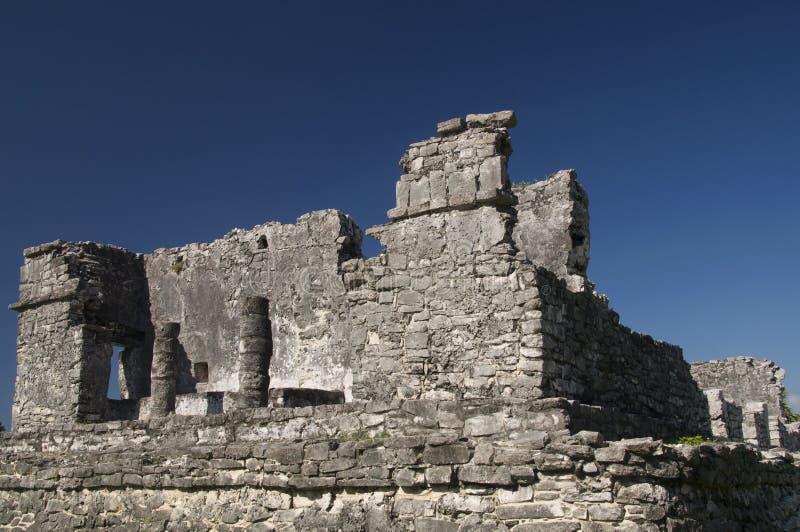 Mayan tempelruïnes in Tulum royalty-vrije stock fotografie