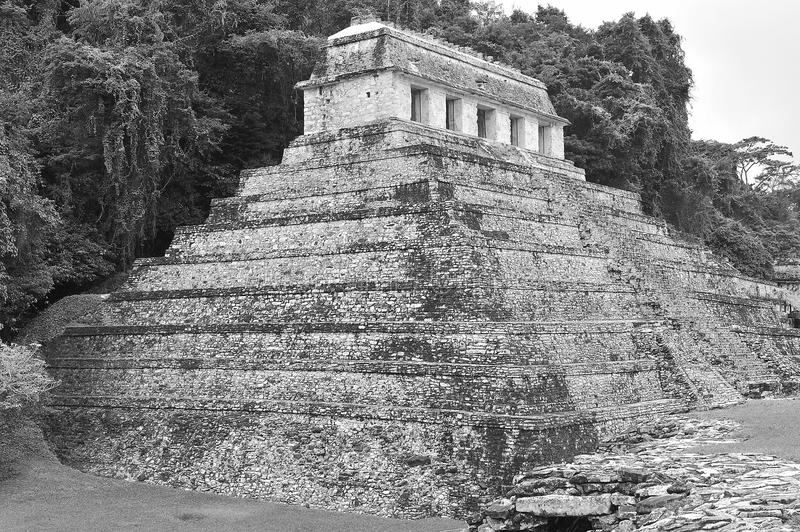 Mayan temple of calakmul royalty free stock photography