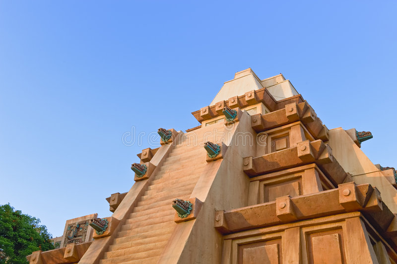 Mayan temple or pyramid royalty free stock photography