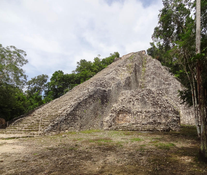 Mayan temple. Ruins of a mayan temple in Coba, Mexico stock image
