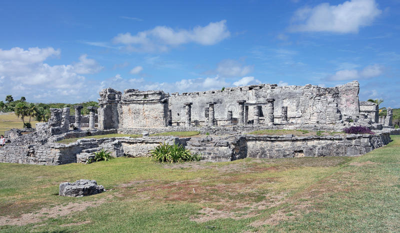 Mayan temple ruins in Mexico royalty free stock photos