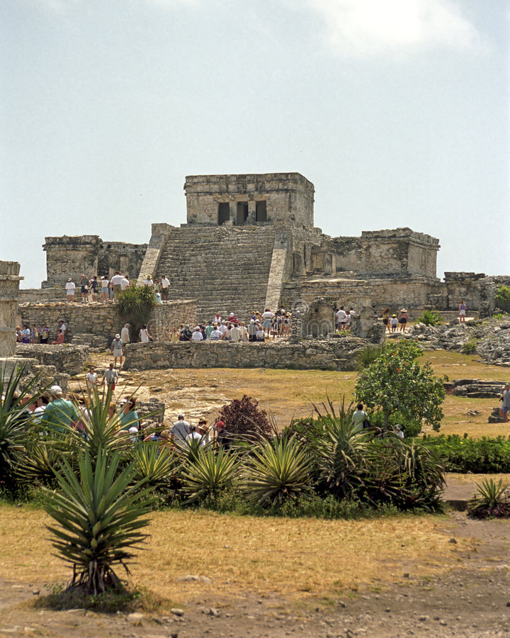 Free Mayan Temple @ Tulum Royalty Free Stock Photo - 2076935