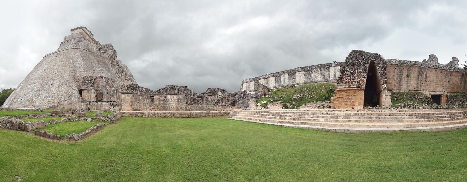 Mayan temple in Uxmal royalty free stock photography