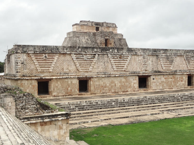 Mayan temple in Uxmal stock photography