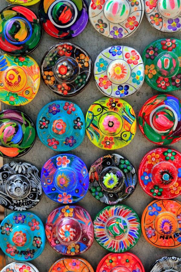 Mayan traditionele hoed van Mexico handcrafts royalty-vrije stock foto's