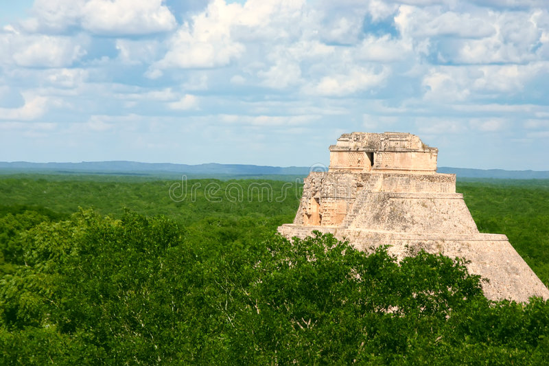 Download Mayan Uxmal stock image. Image of pyramid, maya, forest - 4700203
