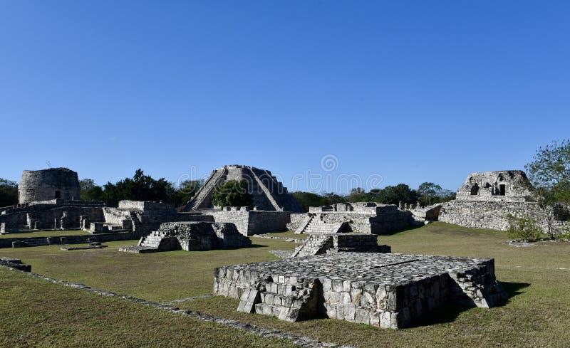 Mayapà ¡ n考古学区域 库存图片