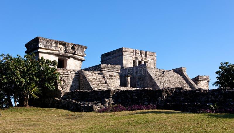 Mayapalast bei Tulum stockfotos