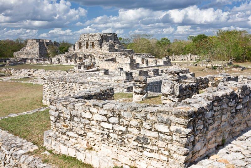Mayapan - lugar maia velho em Iucatão próximo por Merida fotografia de stock