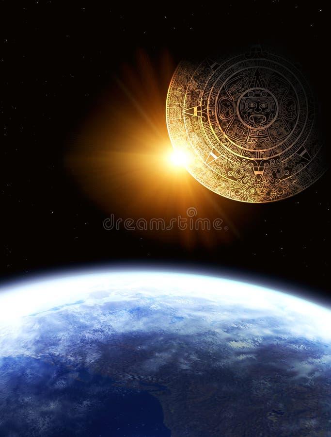 Mayaprophezeiung stock abbildung