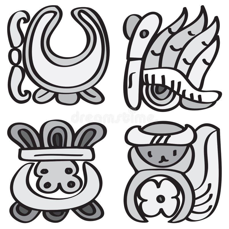 mayaprydnadstil vektor illustrationer