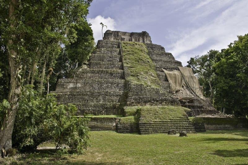 mayapyramideyaxha arkivbild