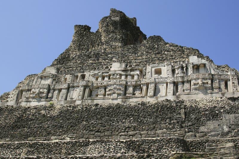 Mayaruine in Belize stockbilder