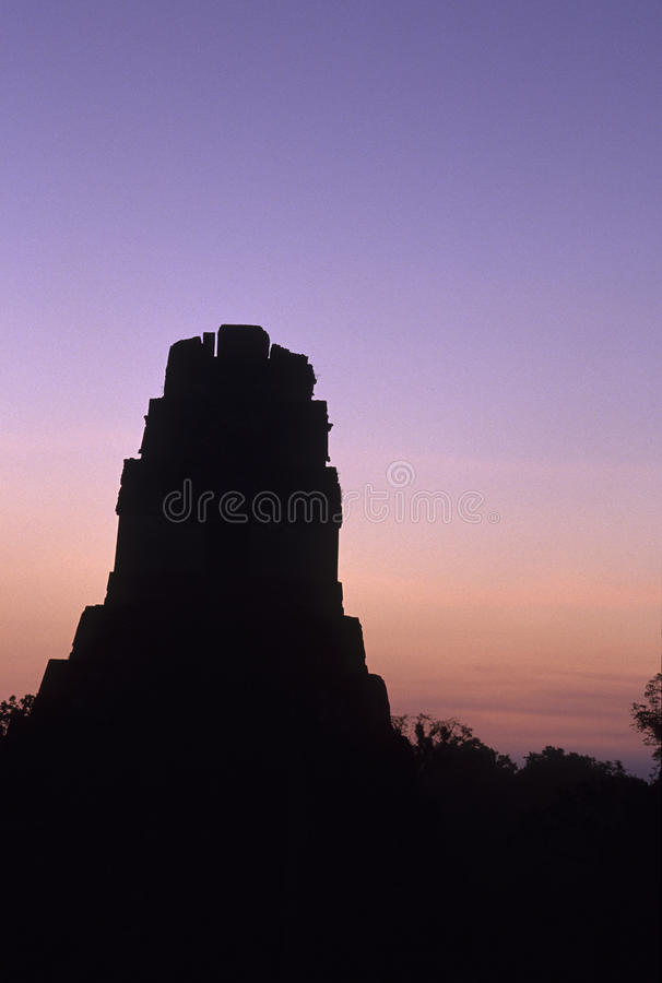 Mayaruinen Tikal, Guatemala lizenzfreies stockbild